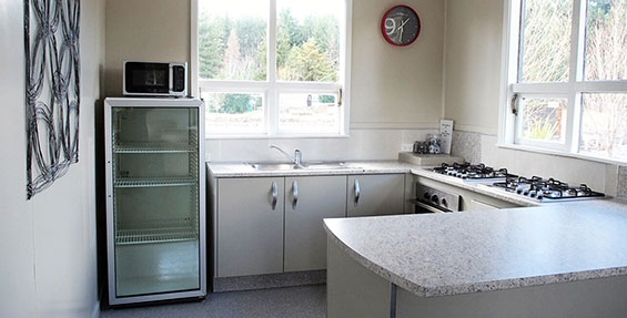 large kitchen for guests use