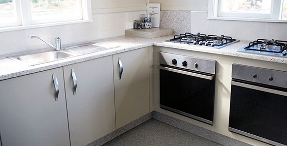 gas stoves in kitchen