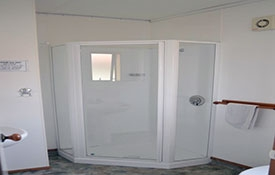 ensuite bathroom of studio unit