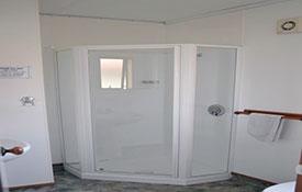 ensuite bathroom of studio unit