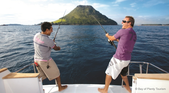 Book a Mt Maunganui Fishing Charter while staying at Pacific Palms Resort