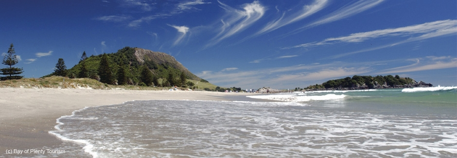 Mt Maunganui a great place to holiday or visit spring, summer, autumn or winter