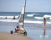 Blokart down Papamoa beach
