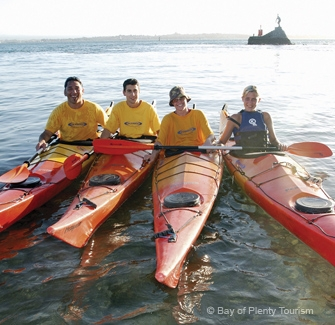 Kayaking, one of the many activities around Mt Maunganui, papamoa and Tauranga