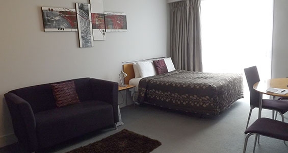 lounge of Ngaio 1-bedroom unit