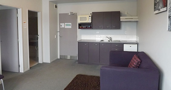 fully equipped kitchen of Ngaio 1-bedroom suite
