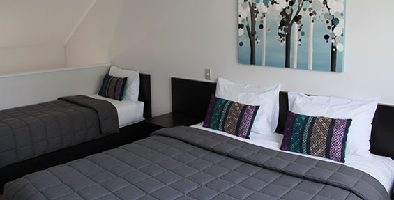 double storey suites come with super king bed and two single beds