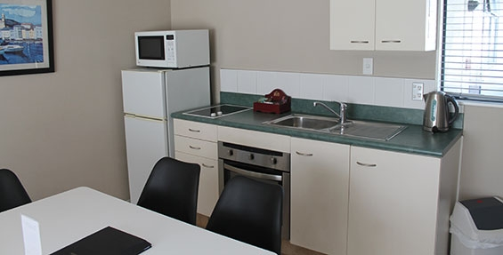 full kitchen facilities available in two-bedroom suite