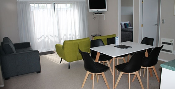 spacious lounge and dining of our two-bedroom family units