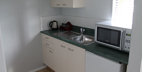 kitchenette with microwave fridge and tea-coffee making facilities