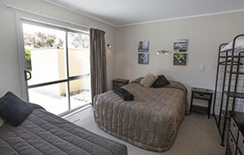 second room has double bed and single bed