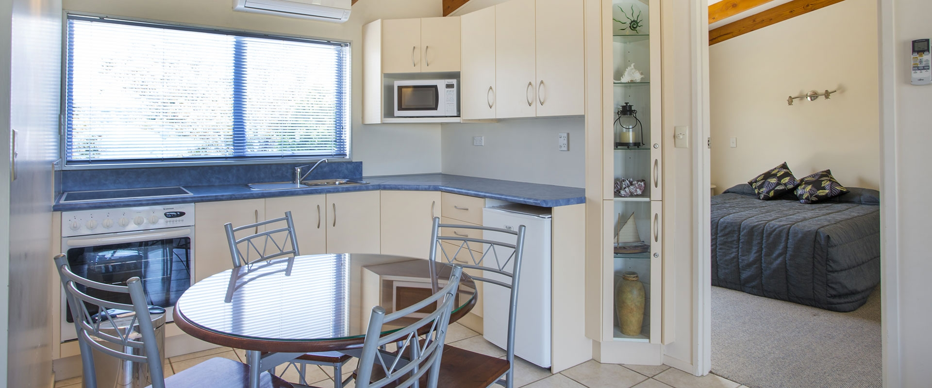 full kitchen facilities in all units