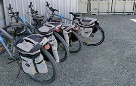 bikes for Alps 2 Ocean Cycle Trail