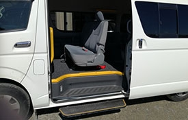 rental disability van seats up to 8 people plus 1 wheelchair