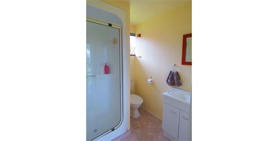 self-contained chalet bathroom