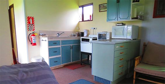 self-contained chalet kitchen