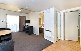 1-bedroom unit living area