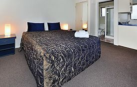 studio unit queen-size bed