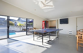 games room with table tennis and TV