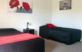 Family unit can accommodate up to 4 guests