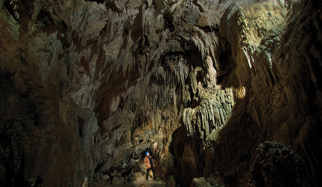 Ngarua Caves in New Zealand