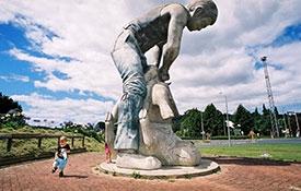 Shearing Statue