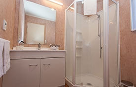 private ensuite of studio unit