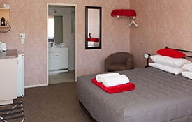 studio unit with queen-size bed