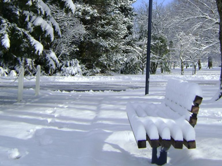 seat in the snow