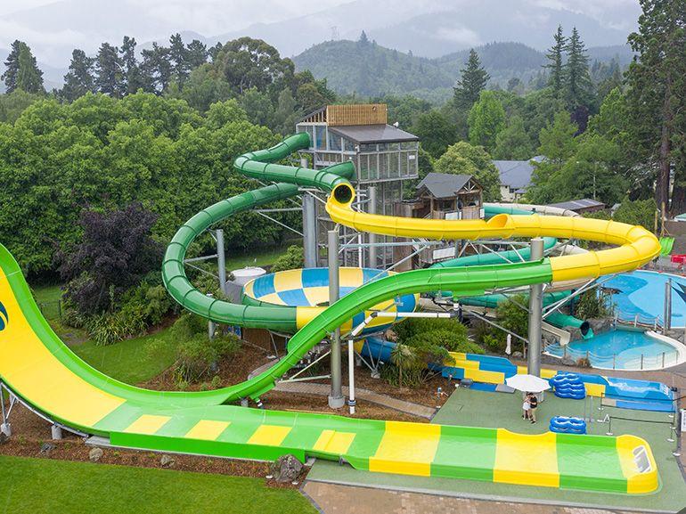 slides at the pools