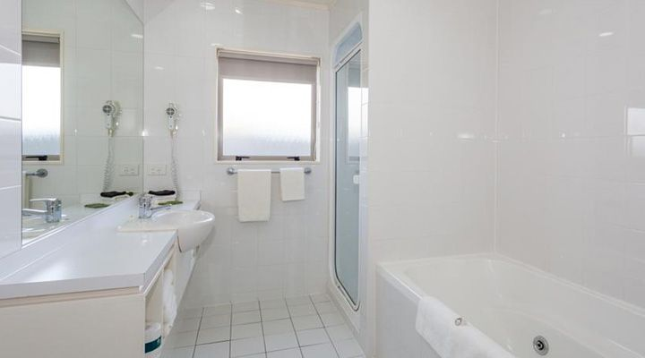 luxury bathrooms in all units