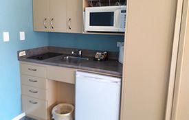 large studio kitchenette