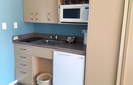 large two-bedroom family suite kitchenette