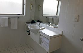 large two-bedroom family suite bathroom