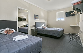 up to 6 guests can sleep in the two-bedroom unit
