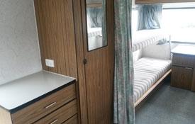 caravan can sleep six guests
