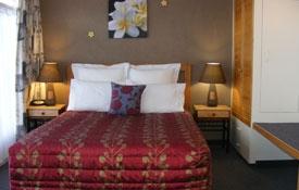Queen bed in the room