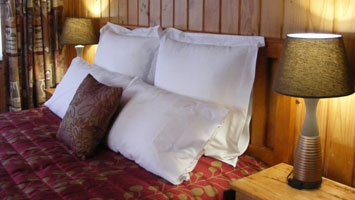 warm comfortable accommodation in snowy region
