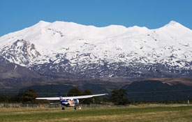 take the flight from Chateau airfield in Whakapapa Village
