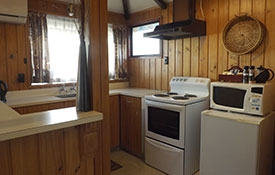 large fully equipped kitchen of Pine Cottage