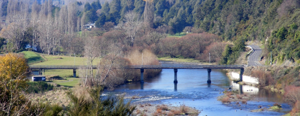 beatiful views of Ongarue and Whanganui rivers