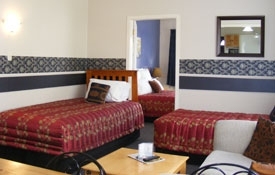 single beds in the lounge