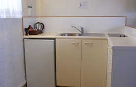 room has fridge, hob and kettle for guests use