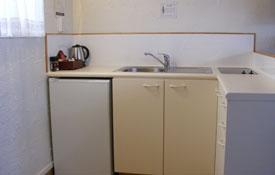kitchen facilities of Unit Six