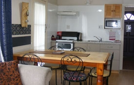 full kitchen facilities with oven and microwave