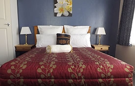 Unit Two - Queen bed in the room
