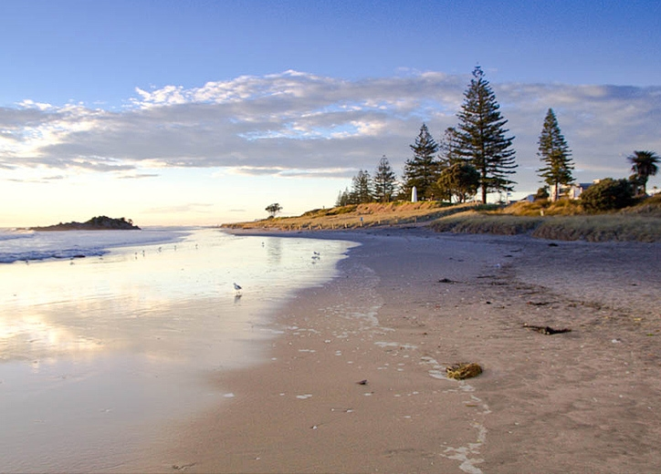 within 100m walk to any of Mt Maunganui beaches