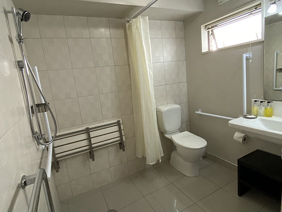 studio with access facilities bathroom