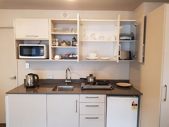 studio with access facilities kitchenette