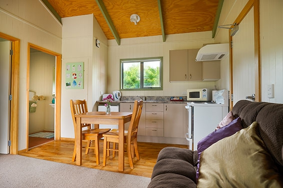 kitchen and dining of 1-bedroom cottage